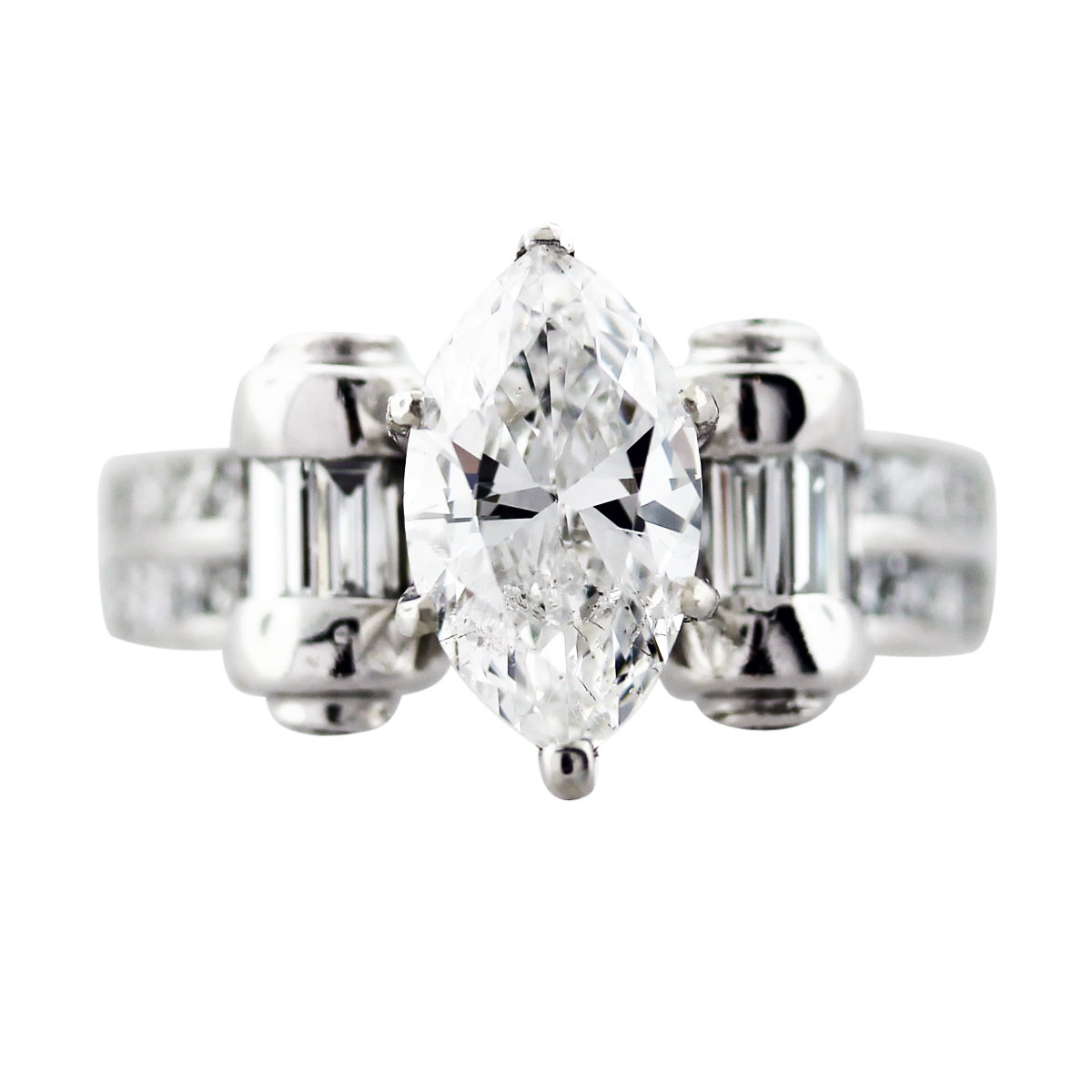 white gold marquise diamond ring boca