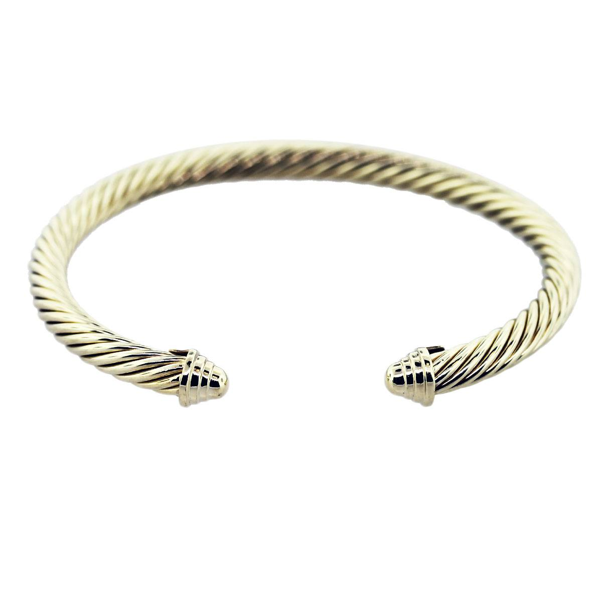 David yurman classic cable 5mm cuff bracelet 14k yellow gold for David yurman like bracelets