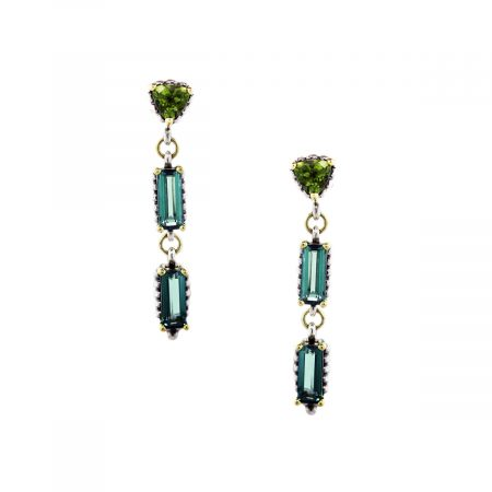 Lags Gemstone Drop Earrings