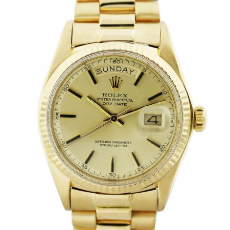 You are viewing this Rolex 730307 Presidential 18k Yellow Gold Non-Quickset Gents Watch!
