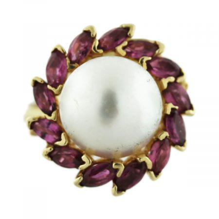 Pearl Pink Ruby Ring