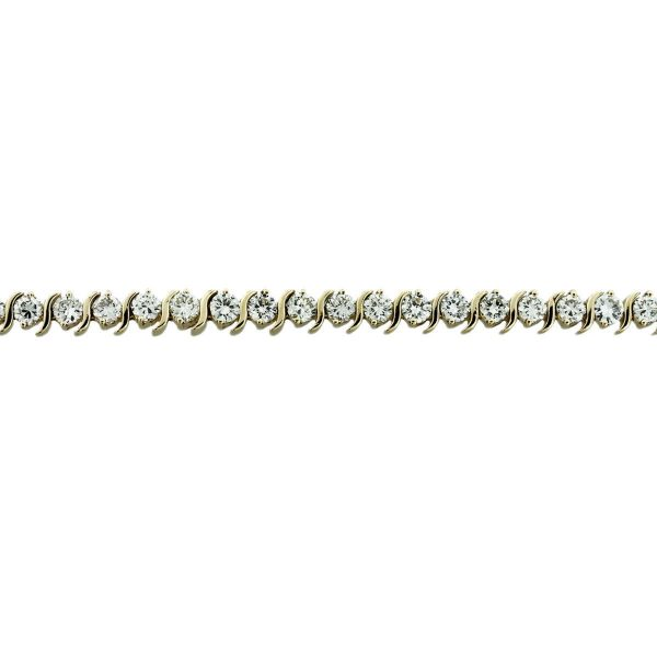 You are viewing this 14k Yellow Gold 10.50 Carat Diamond S-Link Tennis Bracelet!