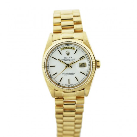 Rolex Datejust 18038 Presidential Single Quick-Set Watch