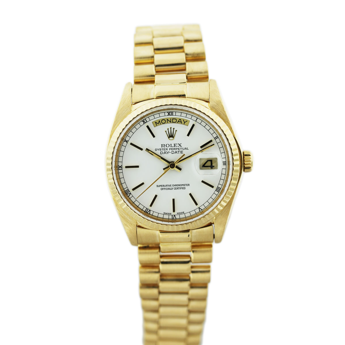 Rolex Datejust White Dial Mens Watch