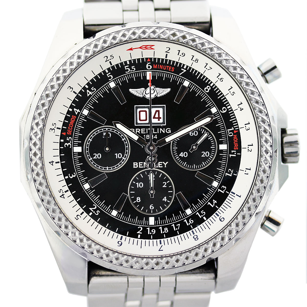 Breitling For Bentley Infos Price History: Breitling For Bentley 6.75 A44362 Mens Automatic Watch