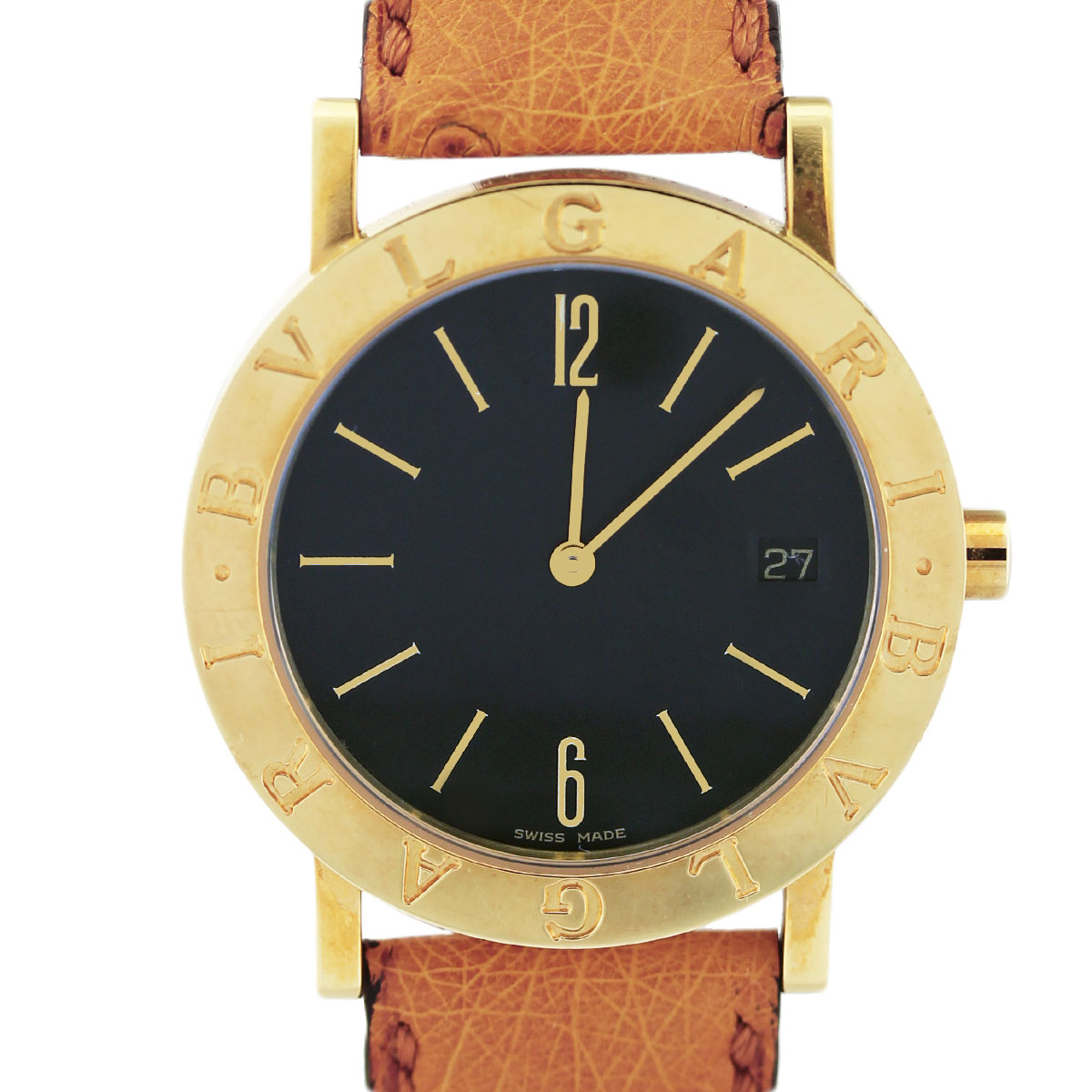 Bvlgari Bulgari Bb 33 Gl Automatic Yellow Gold Mens Watch