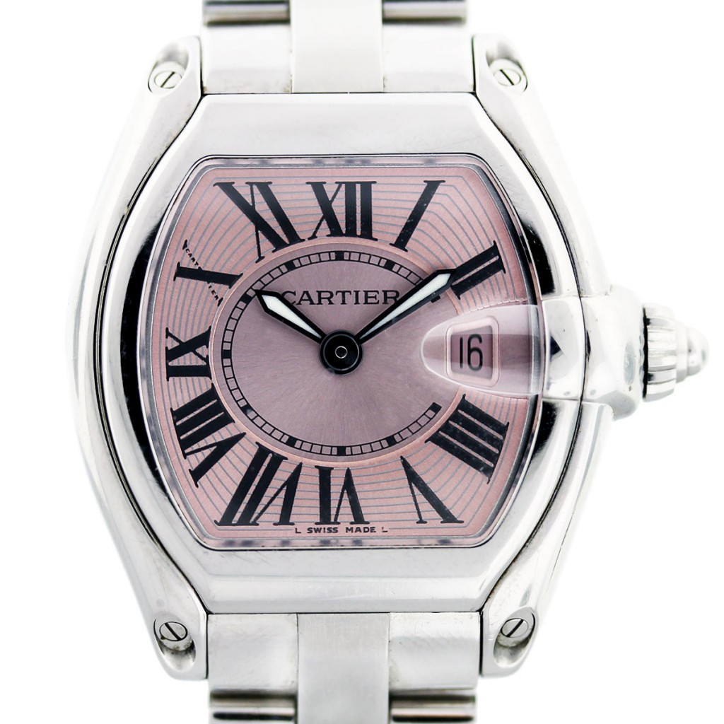 Ladies Pink Dial Cartier Roadster W62617V3 Watch-Boca Raton f6fb9427bd