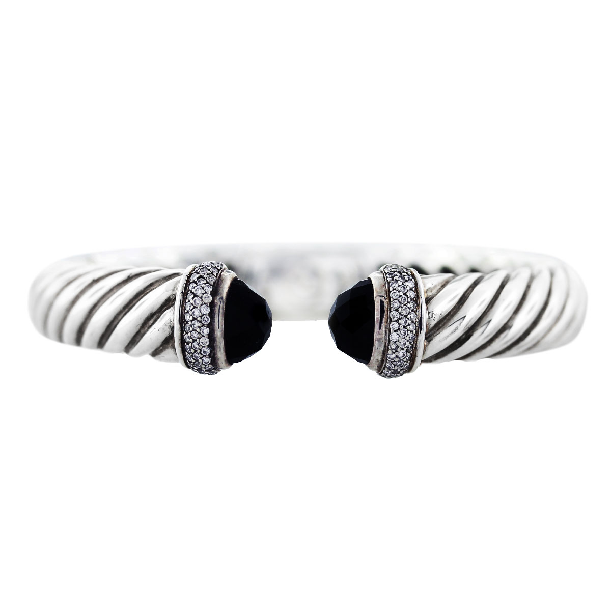 David yurman black onyx and diamond waverly cable bracelet for David yurman like bracelets