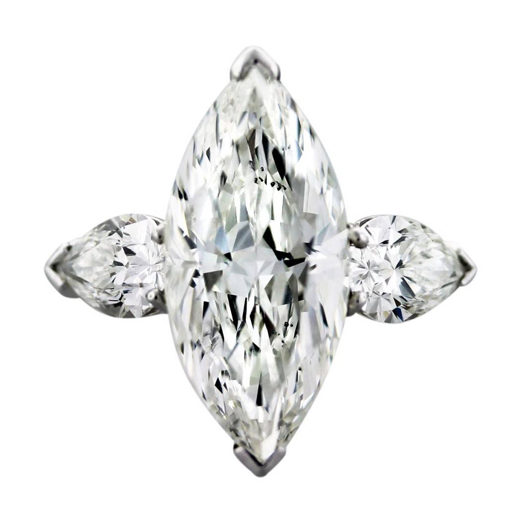Graff 4 Carat Marquise and Pear Shape Diamond Platinum ... 9e4545d5e1bf