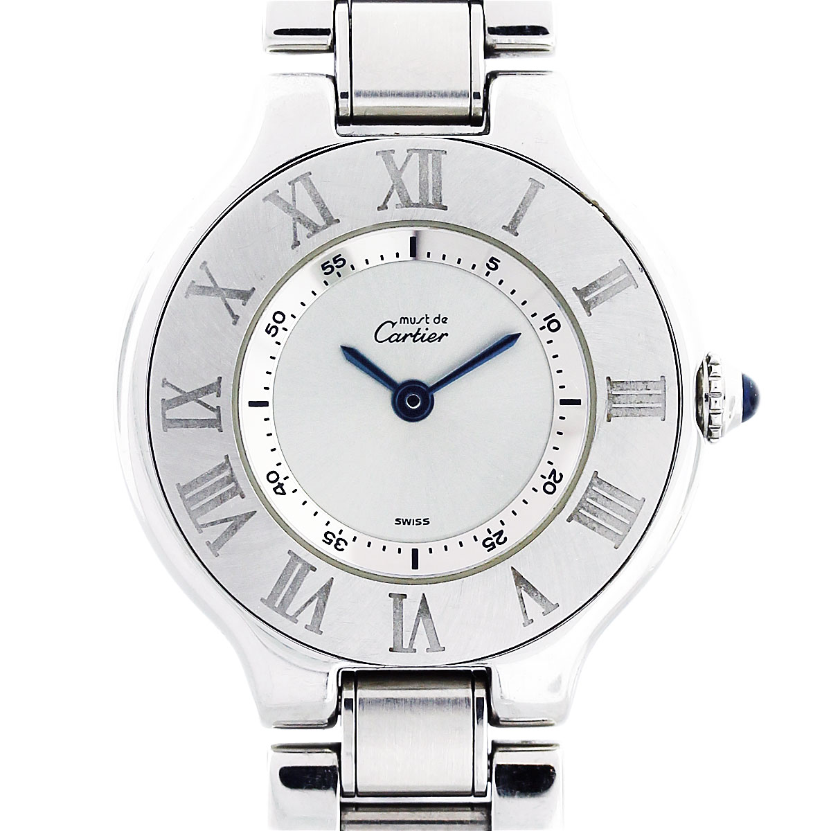 77a2f38266ba Cartier 21 Must De Cartier Stainless Steel Ladies Watch W10109T2