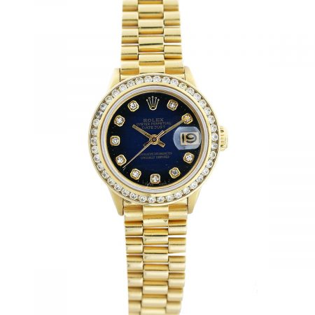 rolex ladies diamond dial president boca raton