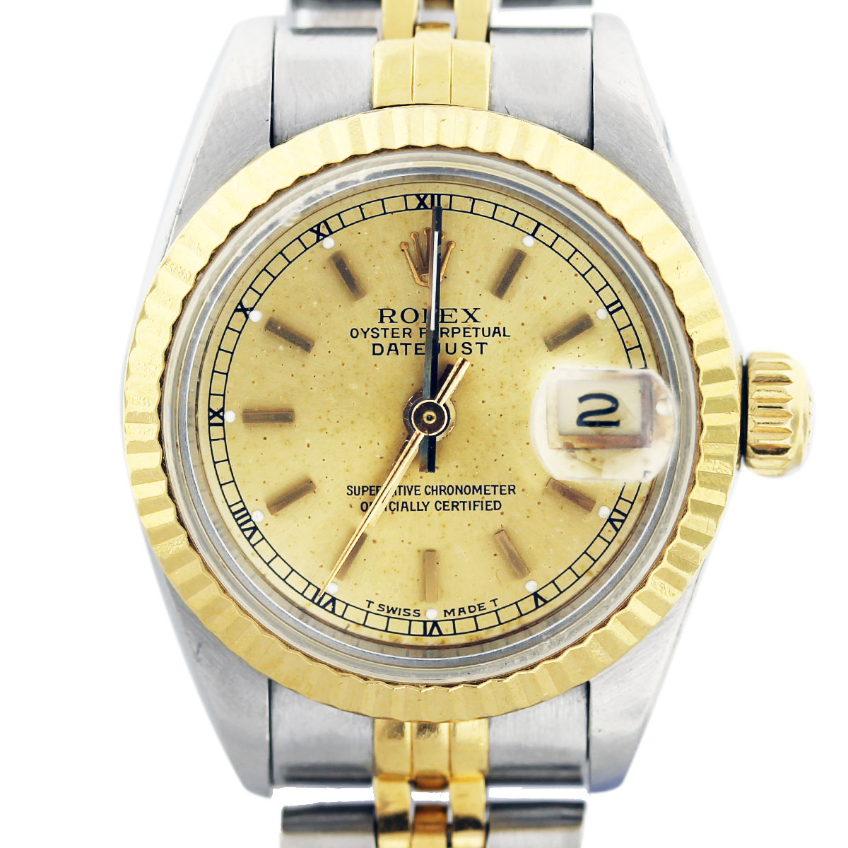 rolex ladies datejust two tone