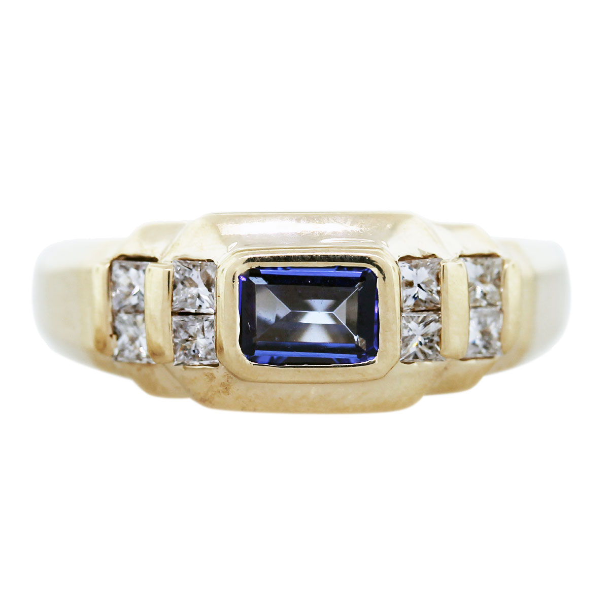 tanzanite mens ring