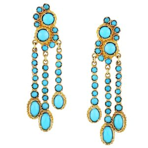 turquoise earrings, vintage turquoise jewelry, turquoise jewelry sale online