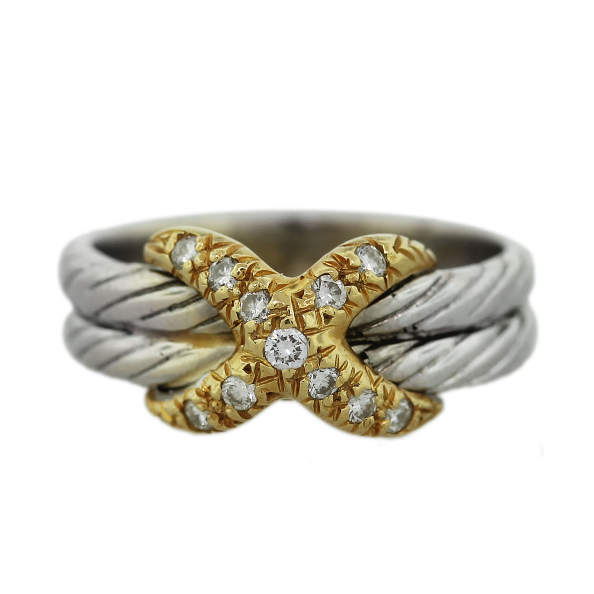 Two Tone Cable X Ring