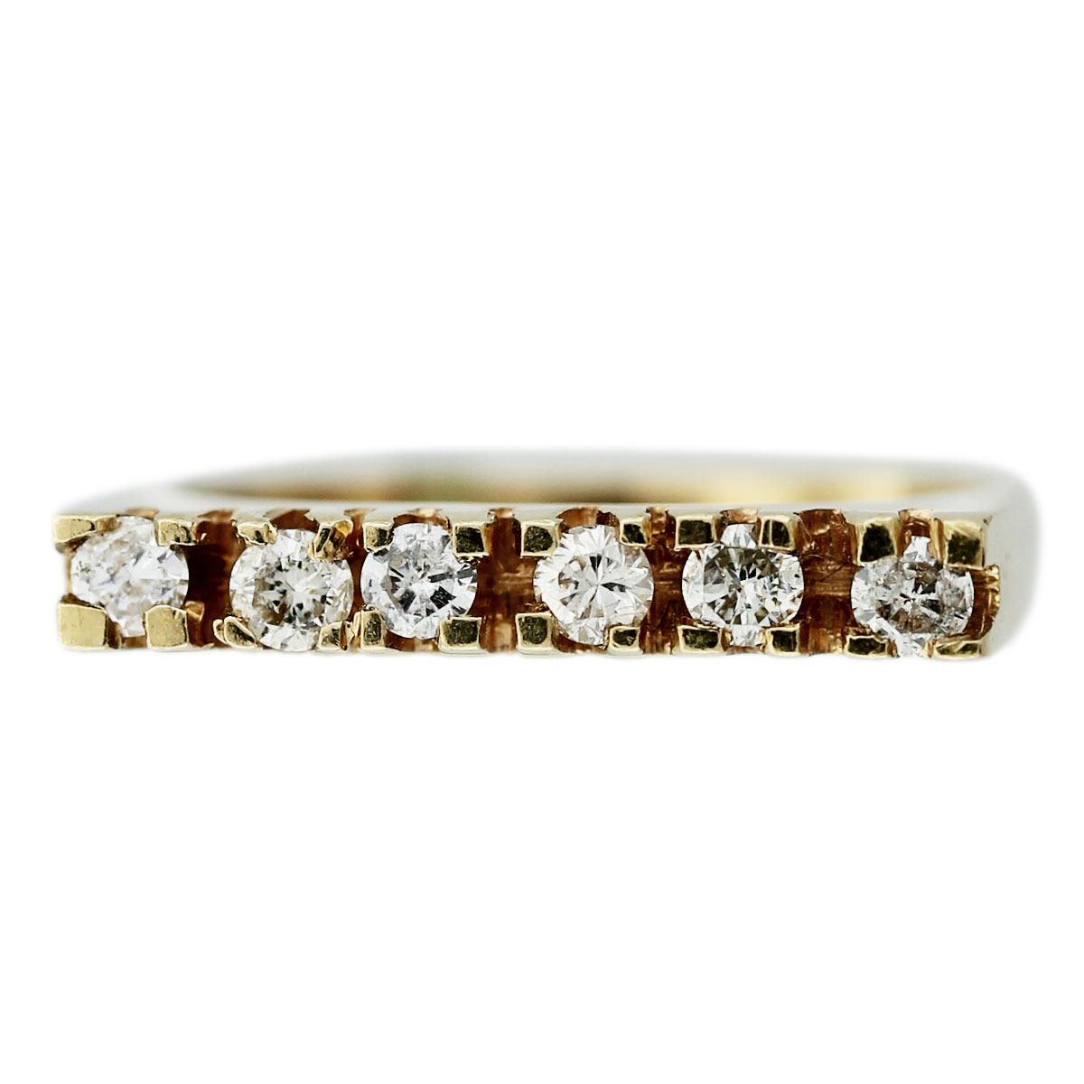 Gold Diamond Flat Top Ring