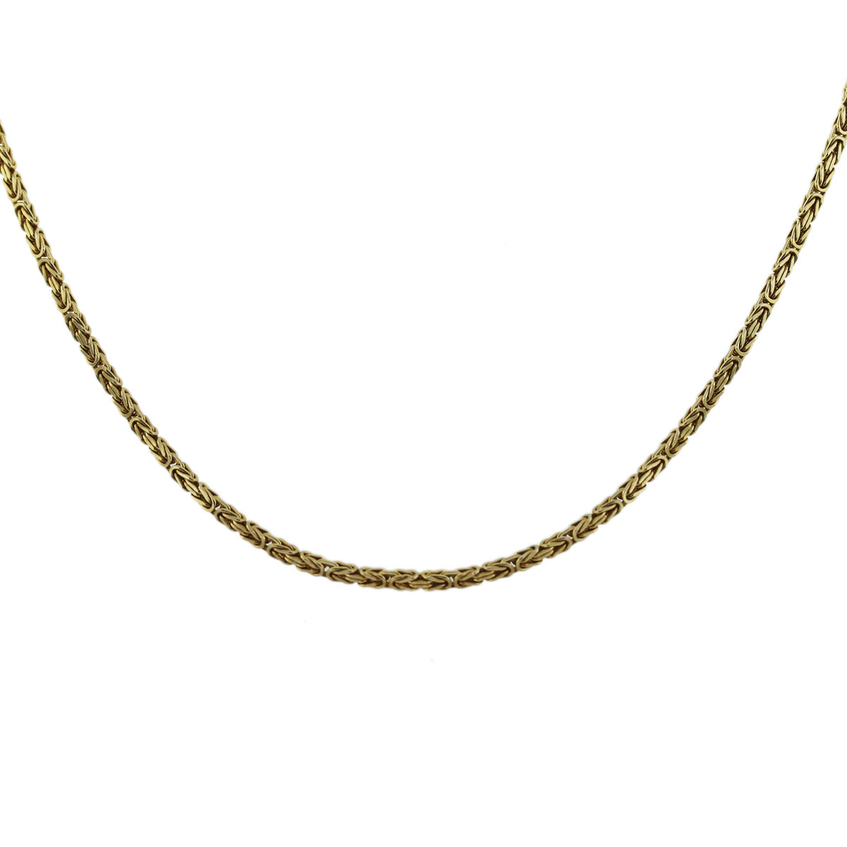 Yellow Gold Woven Link Necklace