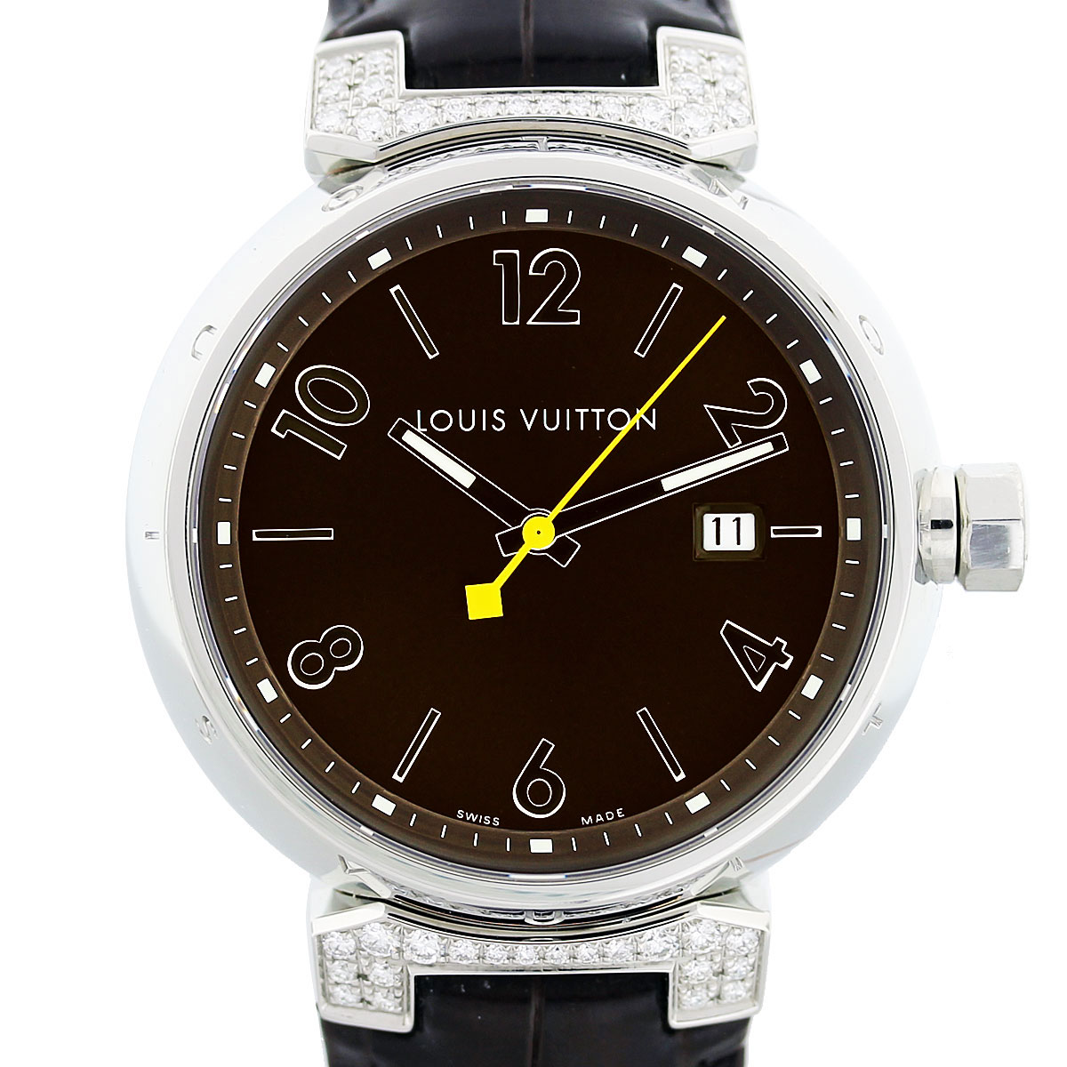 louis vuitton tambour q111g large diamond mens watch boca. Black Bedroom Furniture Sets. Home Design Ideas