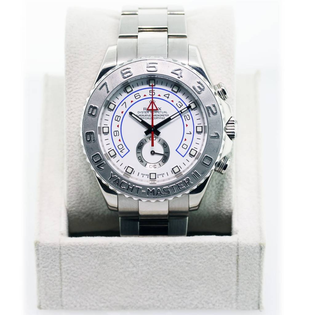 Pre owned Rolex 18K White Gold Yachtmaster II 116689, pre owned yacht master