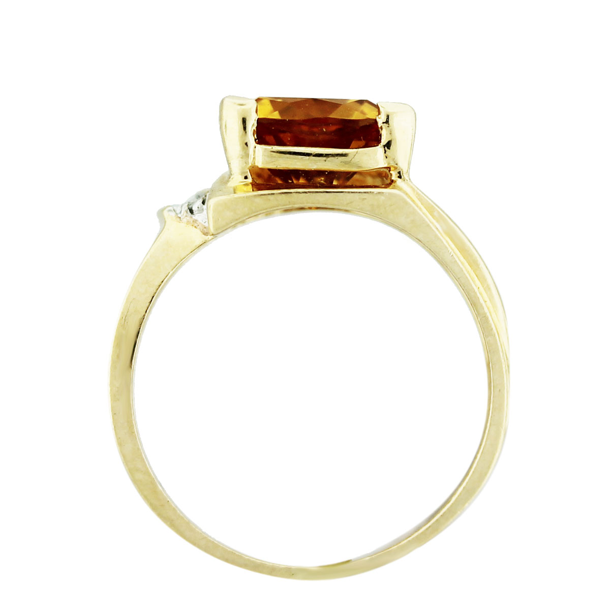 14k yellow gold trillion citrine and ring boca raton