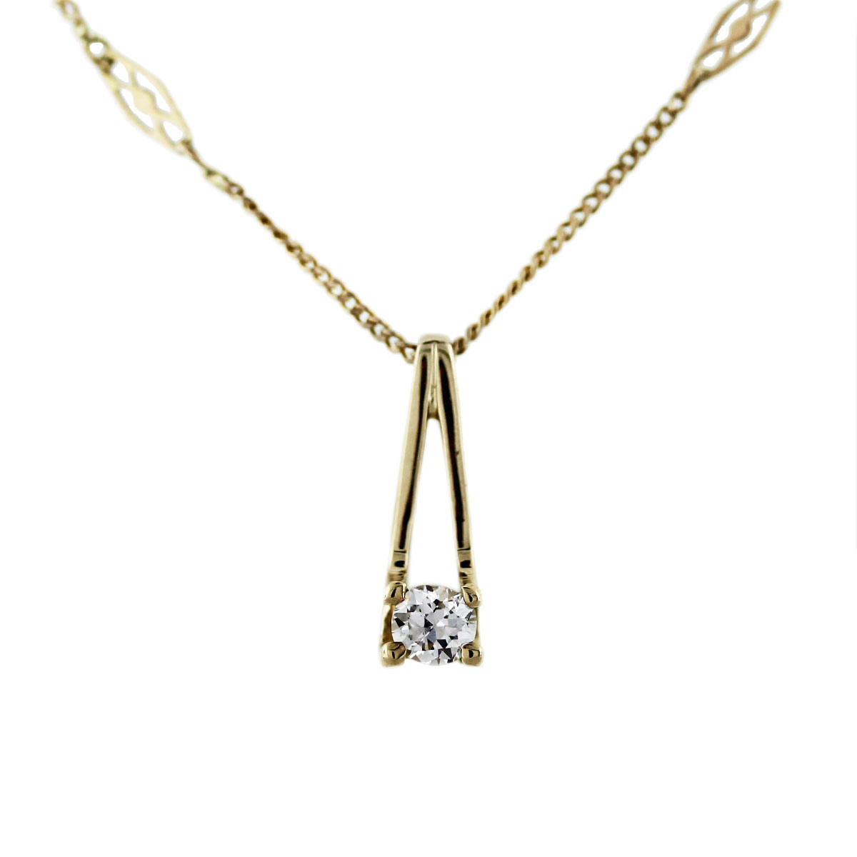 solitaire diamond pendant in gold