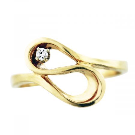gold diamond loop ring boca raton