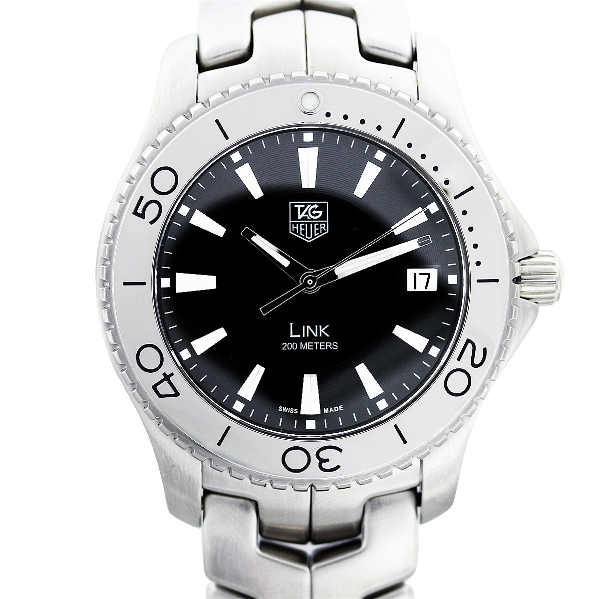Tag heuer link wj1110 stainless steel mens watch boca raton for Tag heuer d link