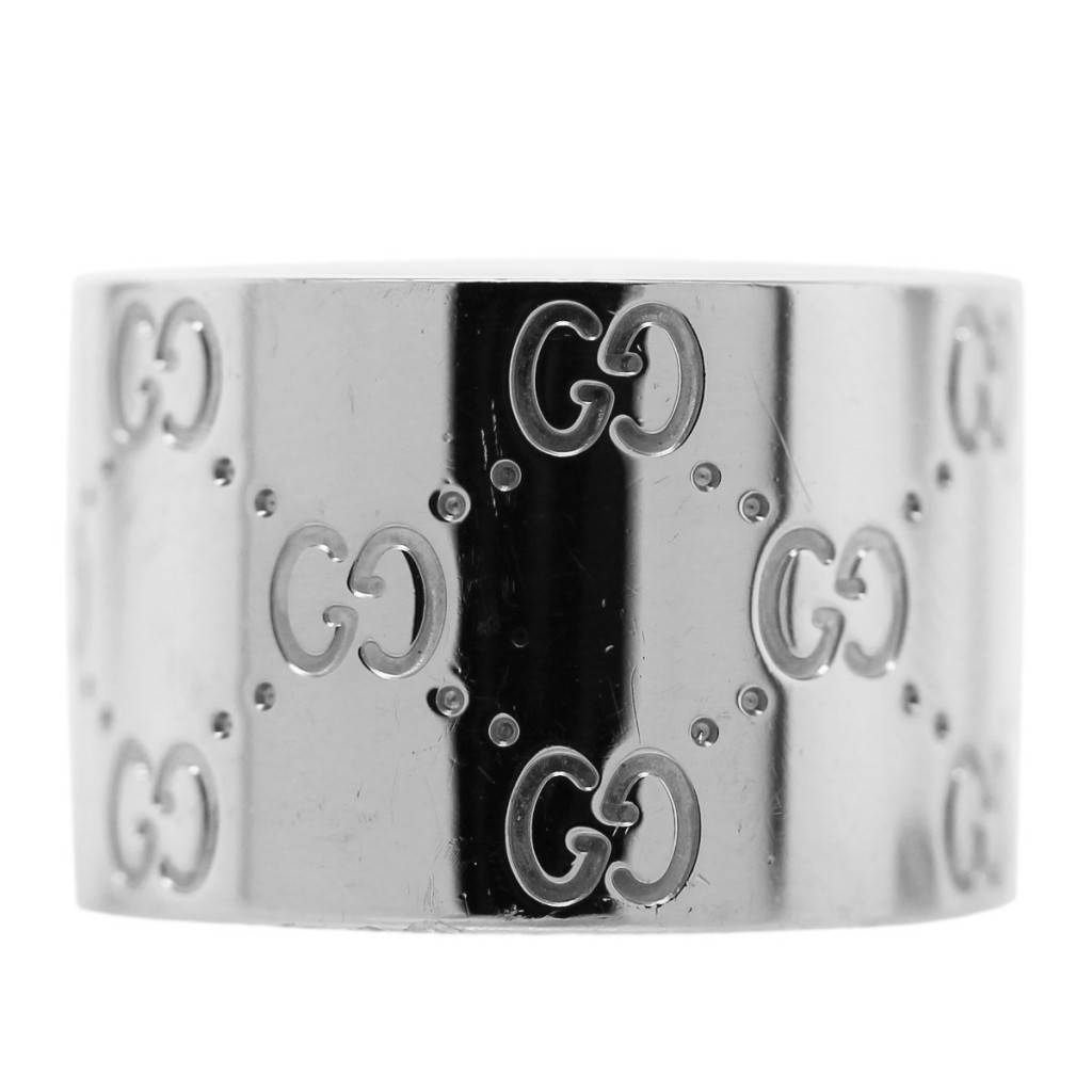 a9a9f02c1 Gucci 18k White Gold Wide Band Ring - Raymond Lee Jewelers