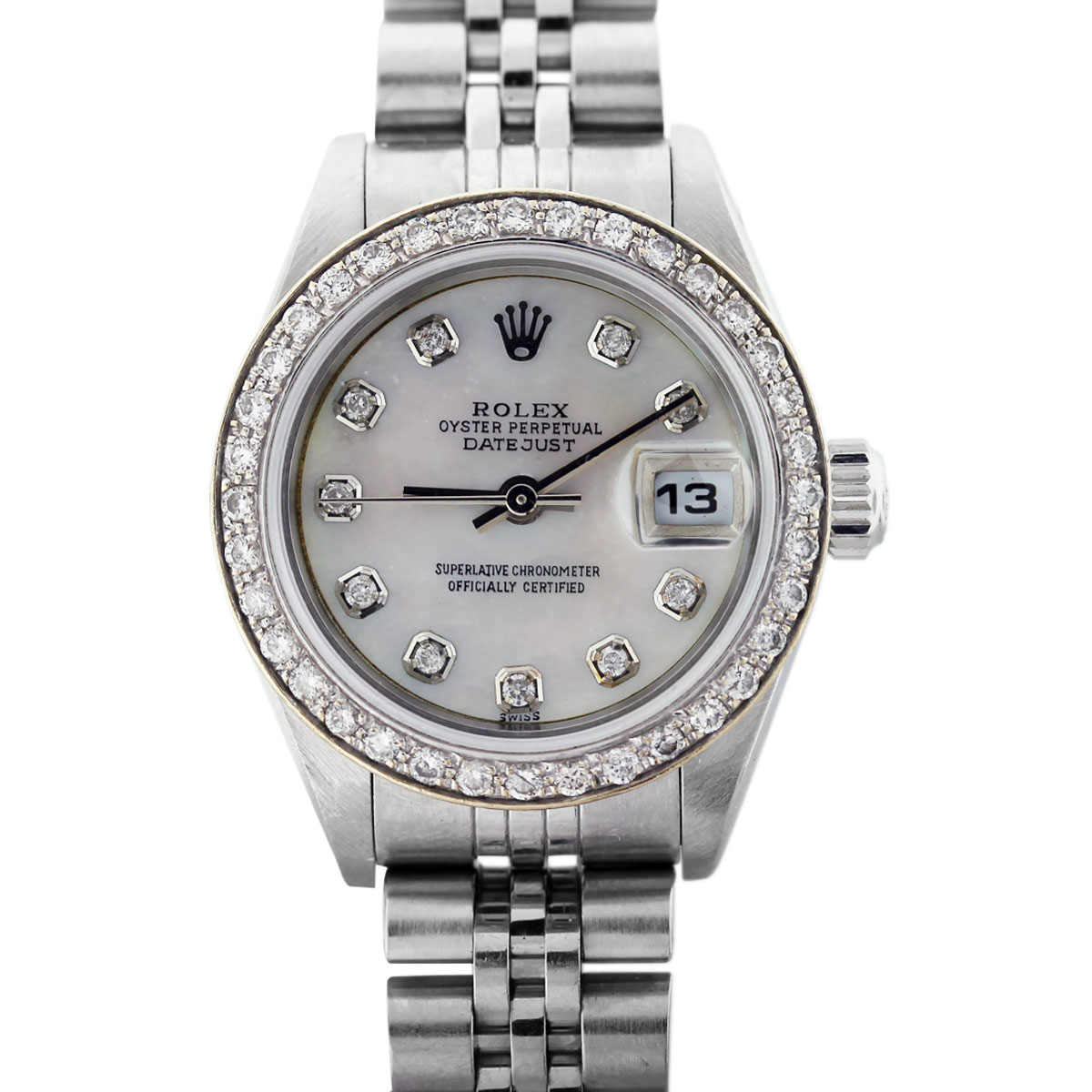 rolex datejust 79174 mother of pearl dial ladies watch. Black Bedroom Furniture Sets. Home Design Ideas
