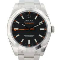 Rolex Milgauss 116400 Black Dial with Orange Markers