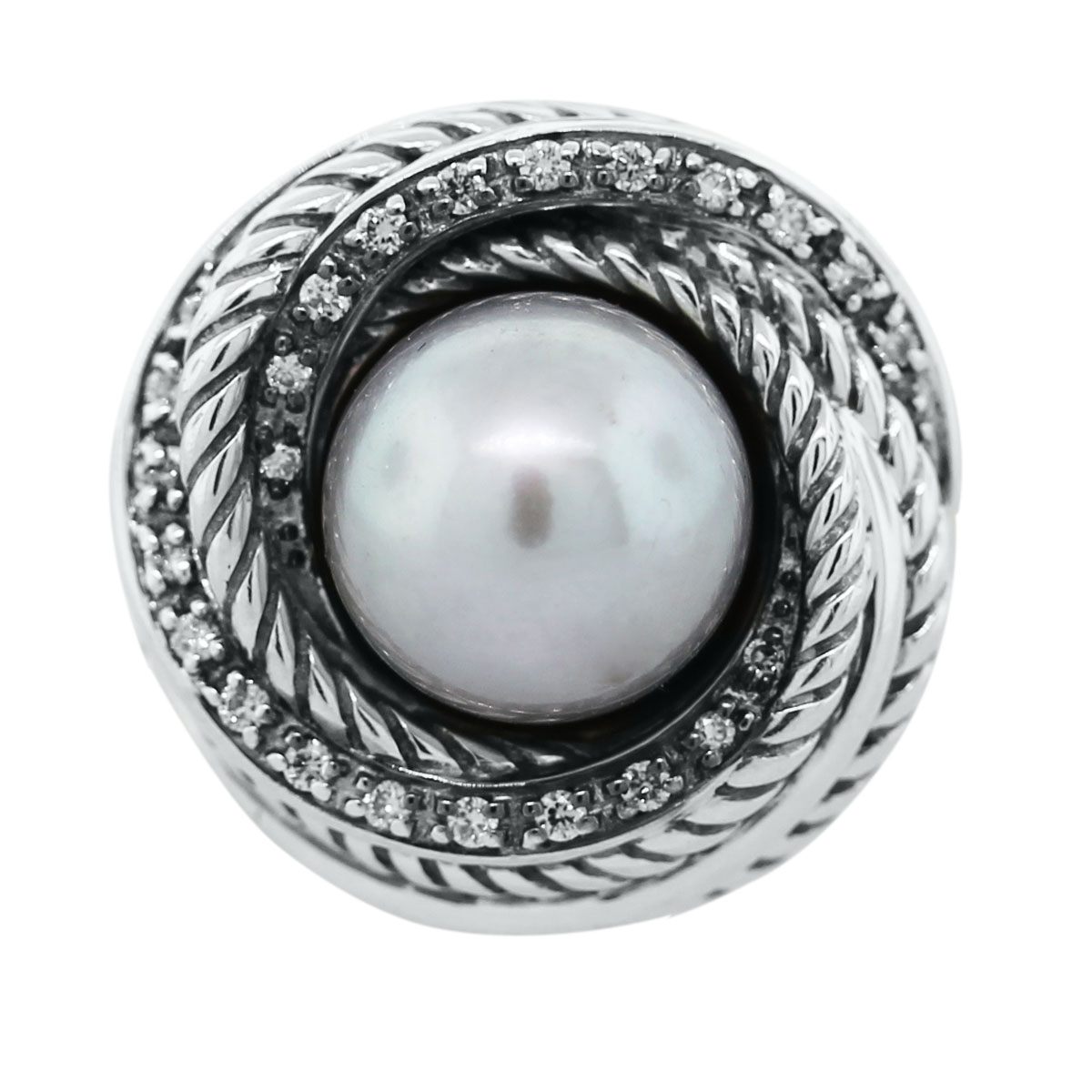 Tahitian Pearl Crossover Ring