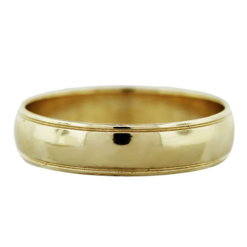 14k Yellow Gold Mens Wedding Band Ring-Boca Raton