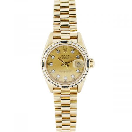 Ladies Rolex Presidential Datejust 69178 Diamond Sapphire Watch
