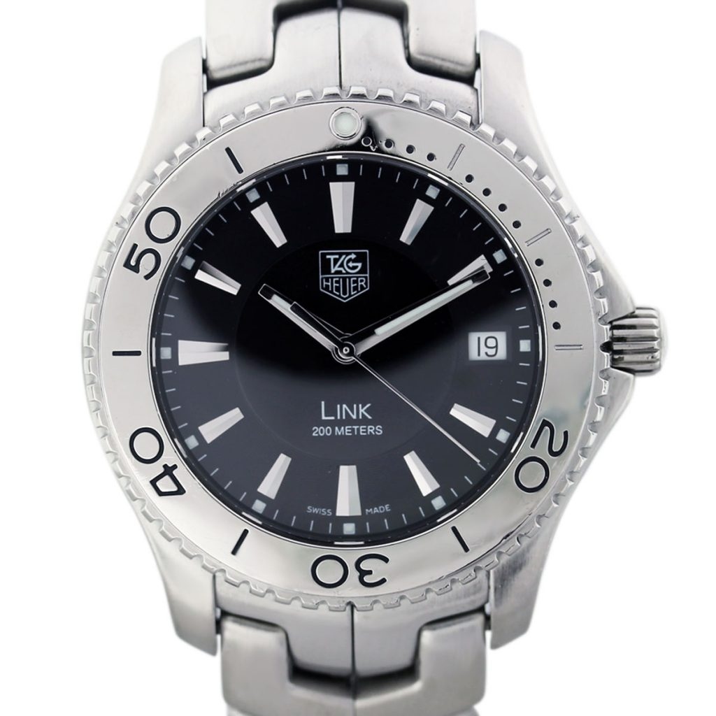 Tag heuer link wj1110 0 stainless steel quartz mens watch boca raton for Tag heuer d link