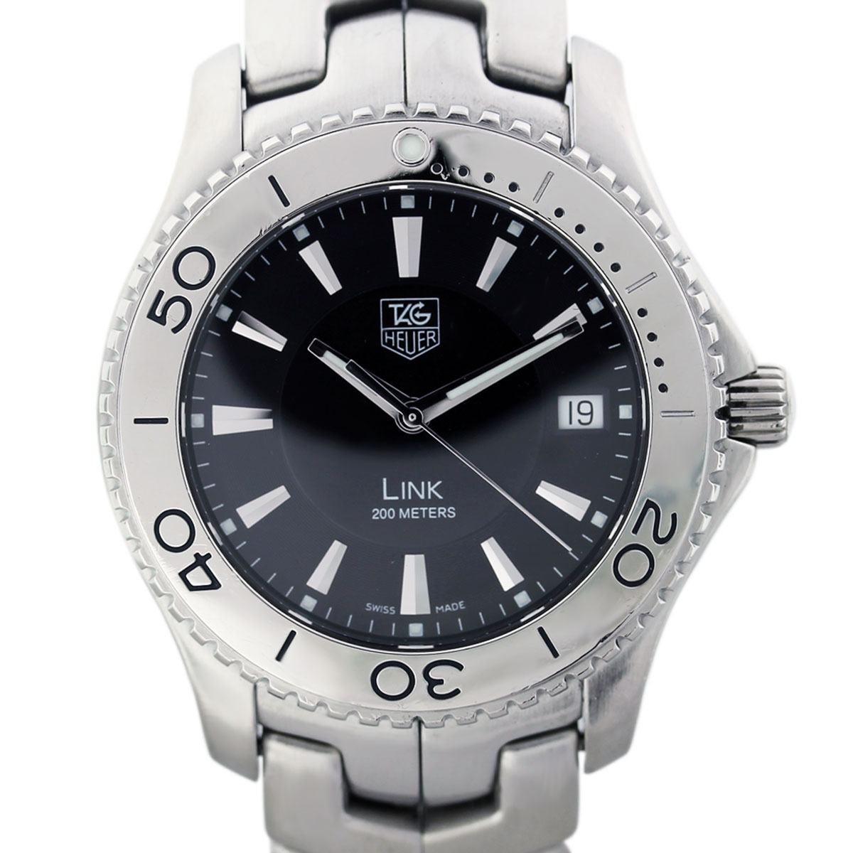 Tag Heuer Link Wj1110 0 Stainless Steel Quartz Mens Watch