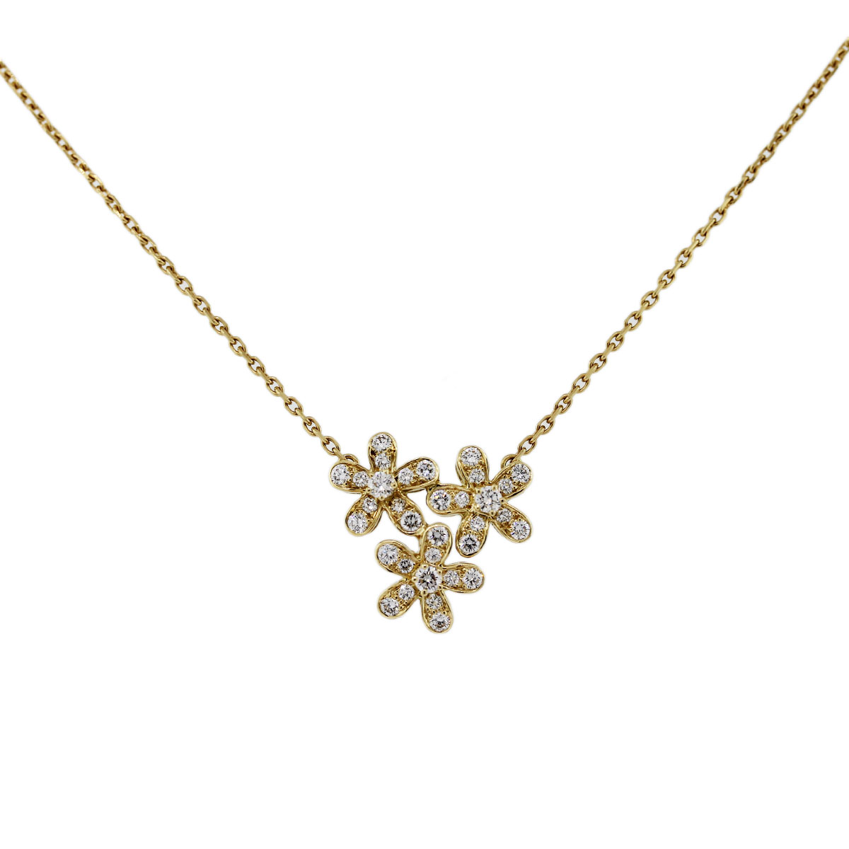 Van Cleef and Arpels Socrates Yellow Gold Diamond Necklace ...