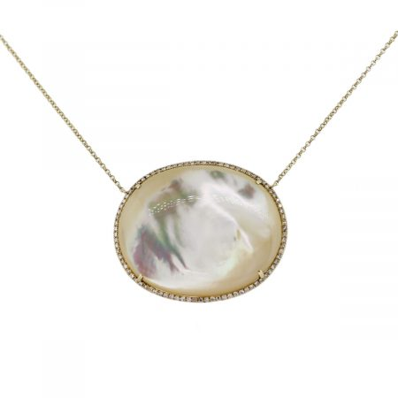 Diamond White Mother of Pearl Pendant