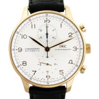 IWC Portuguese Rose Gold Chronograph Watch IW371480