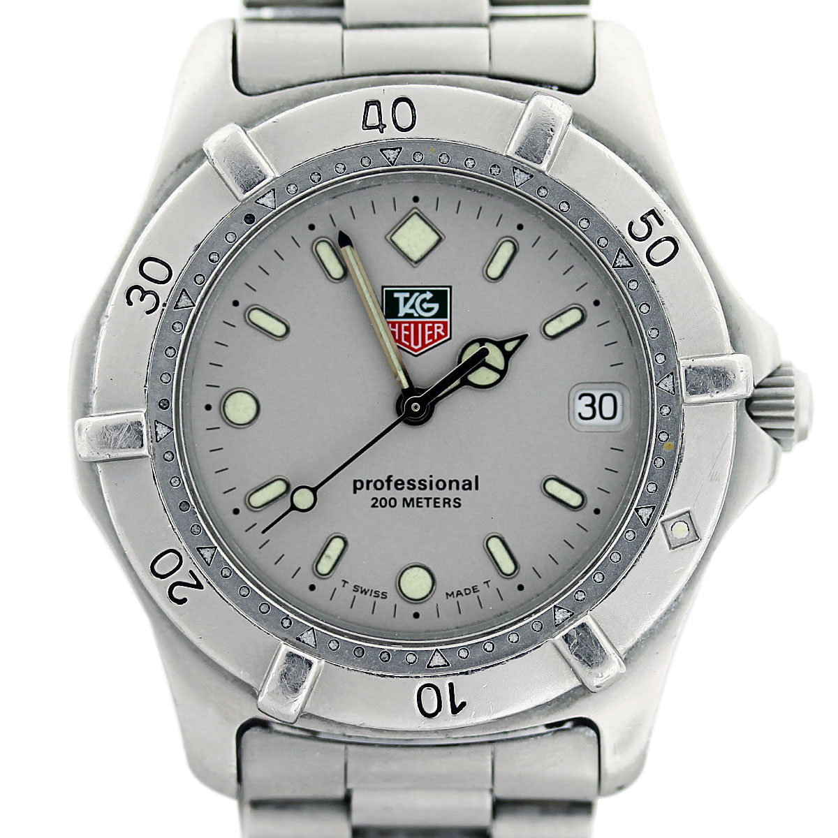 tag heuer wi1114 0 professional stainless steel mens watch boca raton. Black Bedroom Furniture Sets. Home Design Ideas