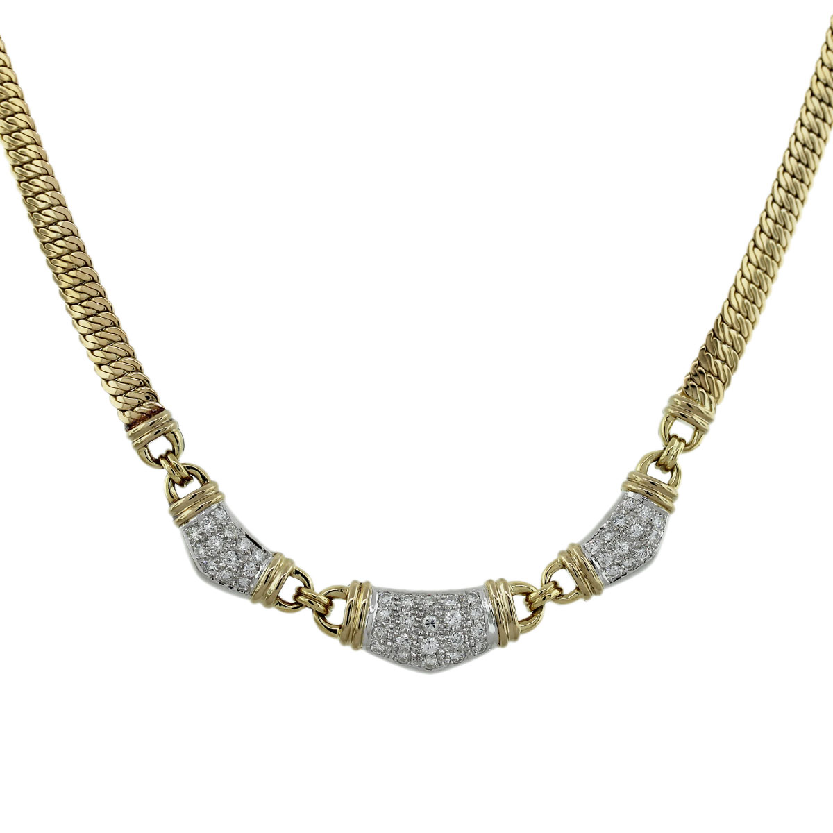 Gold Caplain France Diamond Necklace