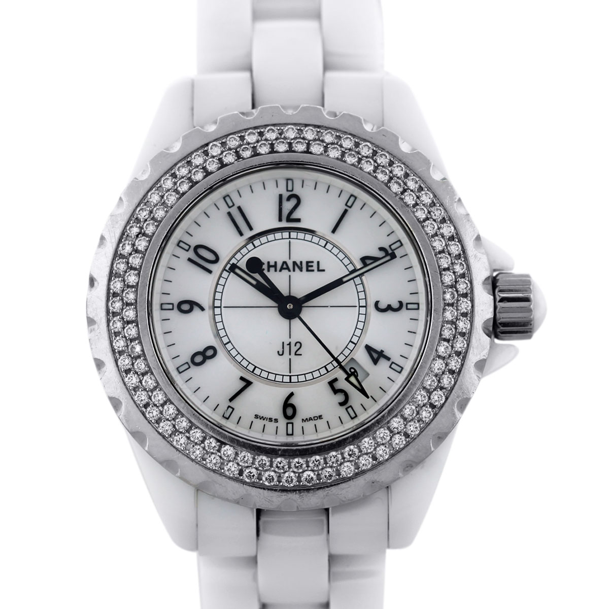 Chanel J12 White Ceramic 33 mm Diamond Watch-Boca Raton 6eb5588b919e
