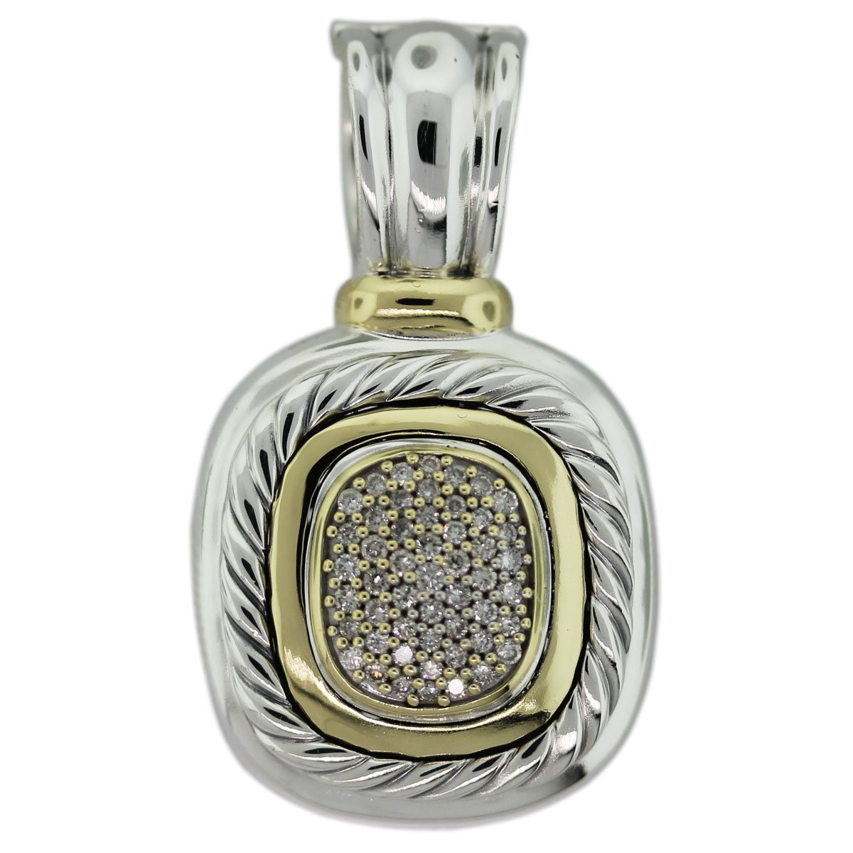 David Yurman Pave Diamond Albion Pendant