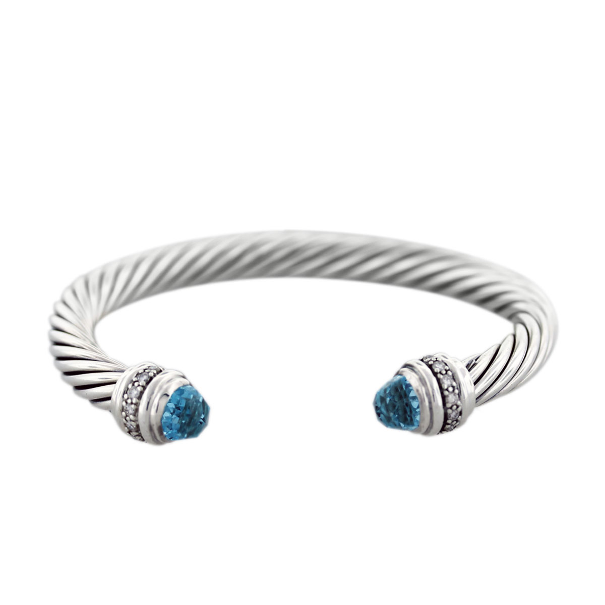 david yurman 7mm blue topaz and diamond cable bracelet ForDavid Yurman Like Bracelets