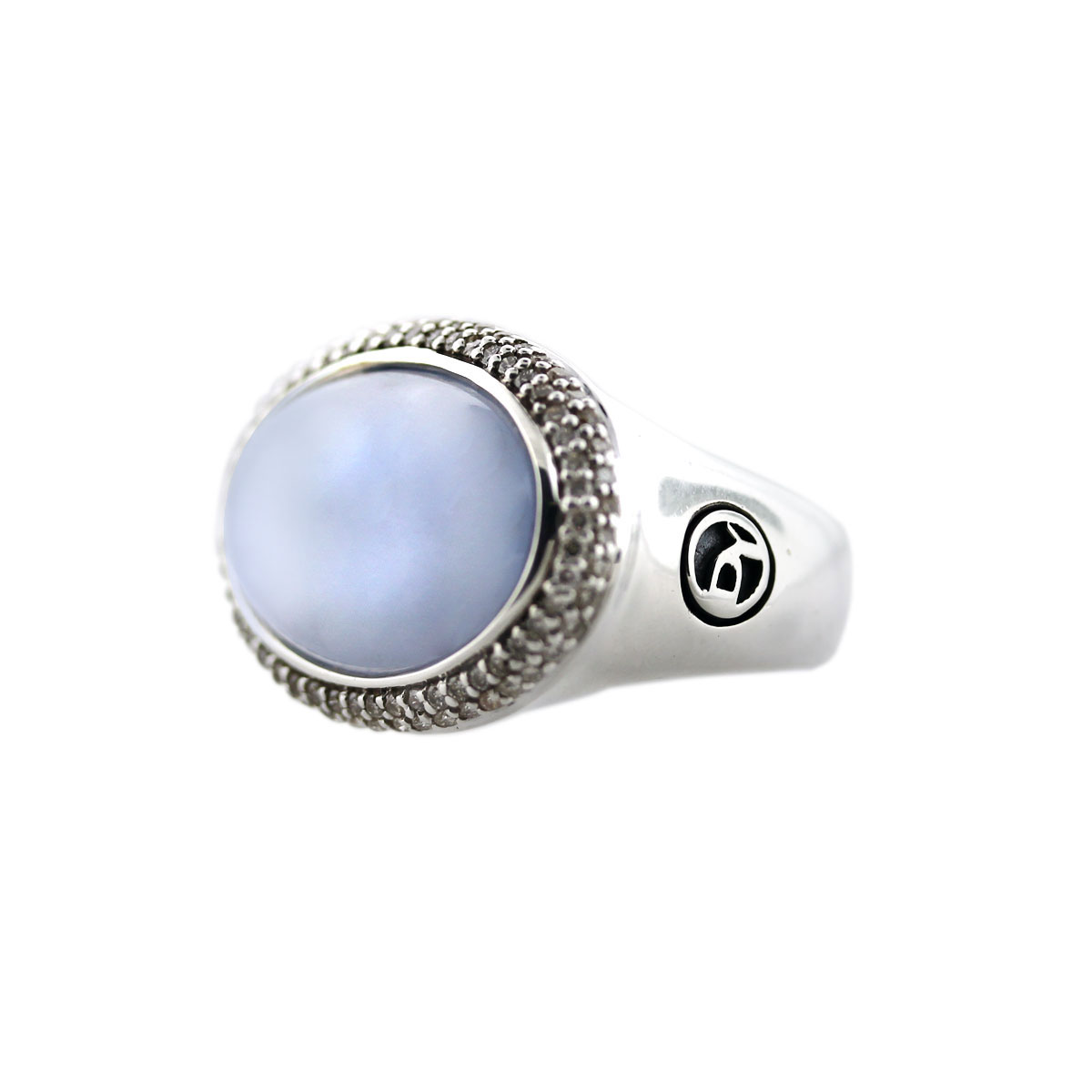 david yurman chalcedony and pave sterling silver ring