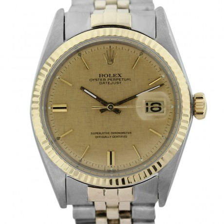 Rolex Datejust Two Tone 1601 Gold Dial Gents Watch