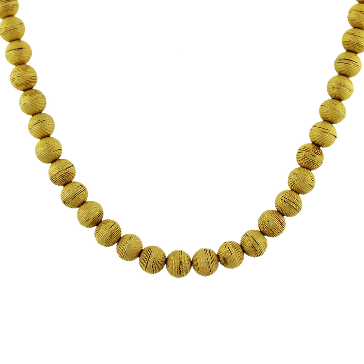 18k Yellow Gold Ball Chain Necklace