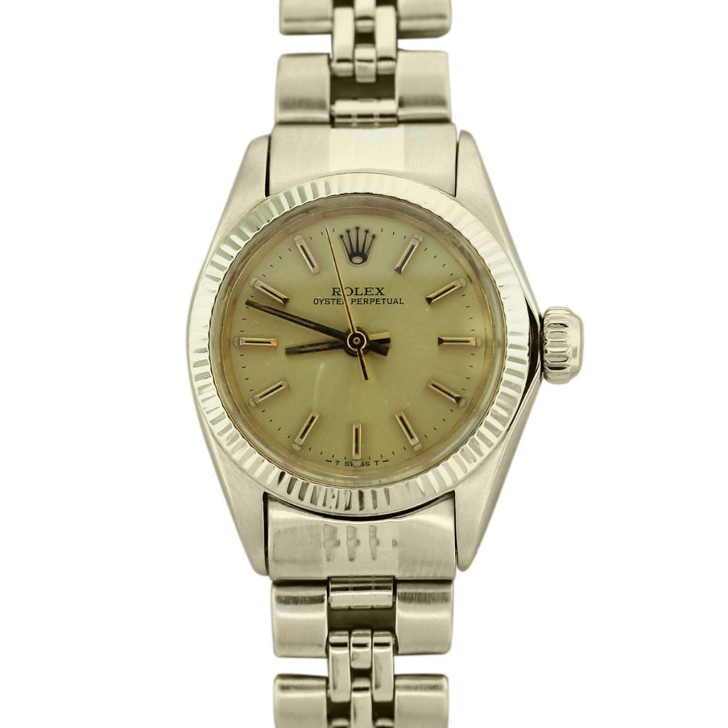 Rolex 14k Yellow Gold Oyster Perpetual 6719 Ladies Watch ...
