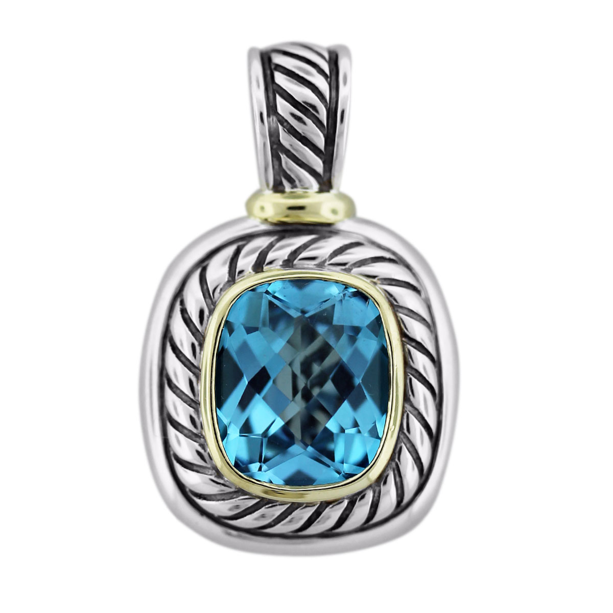David Yurman Blue Topaz Albion Pendant