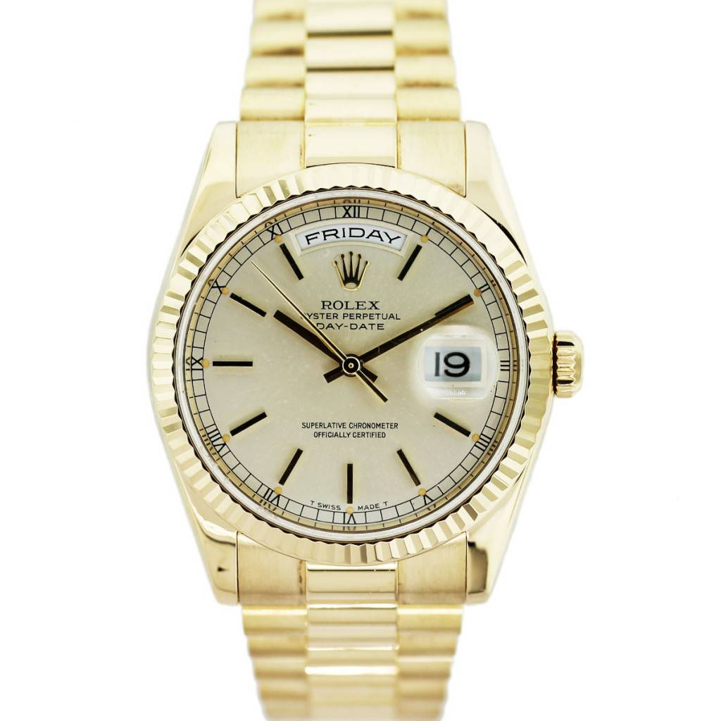 Rolex Day-Date 118238 18k Yellow Gold Mens Watch