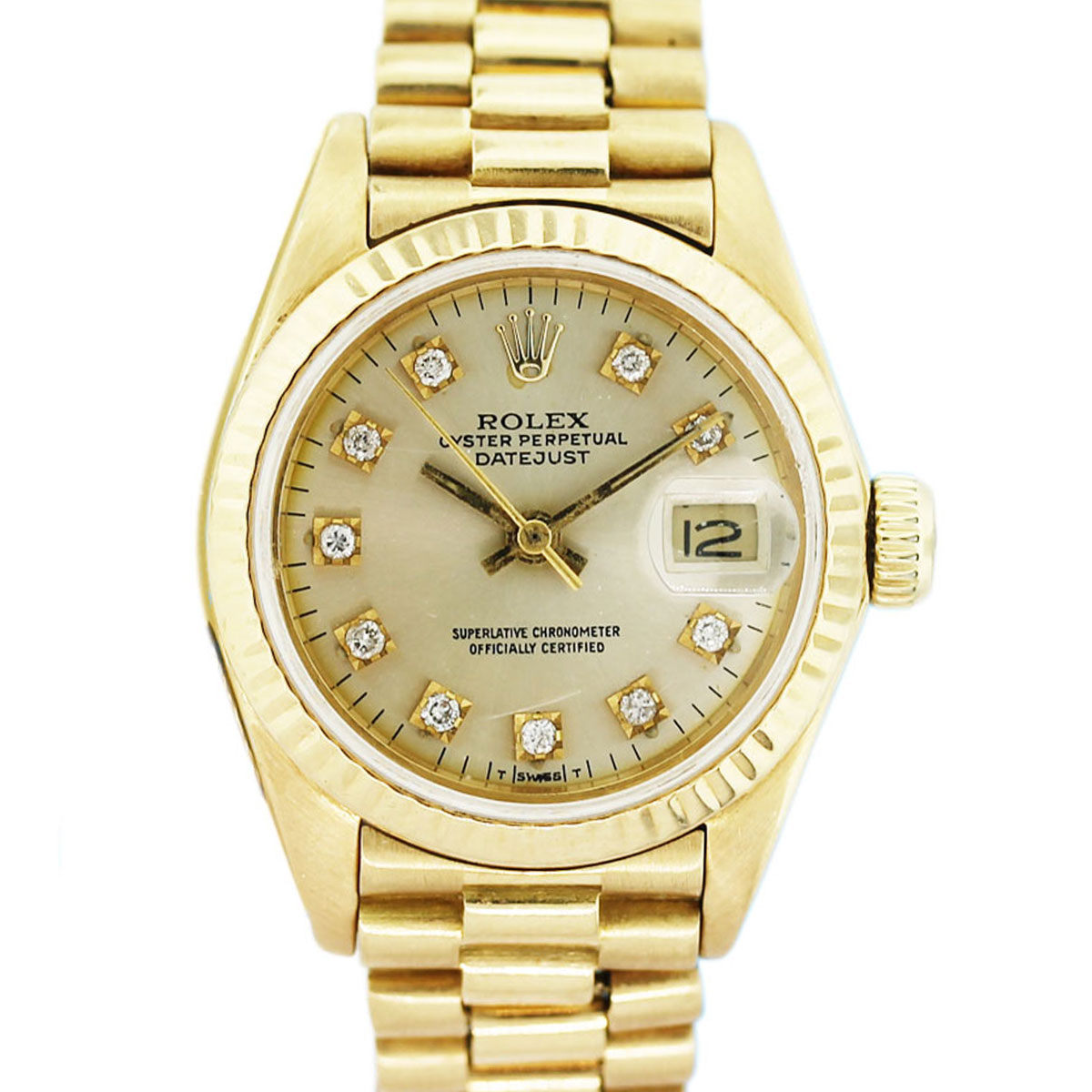 Rolex Datejust 6917 Presidential Diamond Dial Gold Watch ...